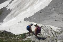 Abstieg von der Maukspitze