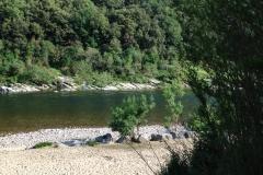 Ardèche Ufer am Camp des Gorges