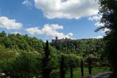 Blick auf mittelalterliche Städtchen