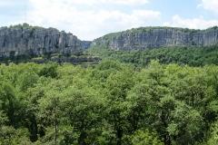 Beeindruckende Landschaft: Cirque des Gens. Mit endlosen Klettermetern.