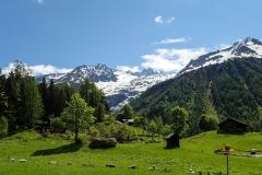 Großartige Landschaft auf die umliegenden 3000er