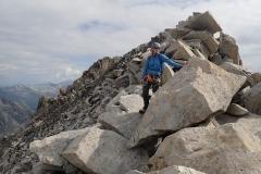 Ier Kletterei auf den Monte Rosso.
