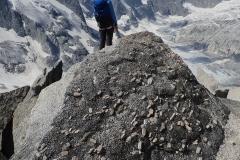 Rückweg vom Monte Rosso. Tolle Felsformationen und -strukturen.