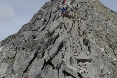 Kletterei über den Südost-Grat des Monte Sissone. Spaßig (Kletterei 2a).