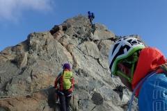 Auf dem Grat des Monte Disgrazia.