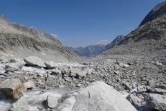 Gletscher unter Schutt