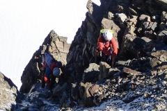 Eisige Kletterei im Kamin
