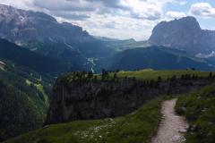 ...und dann die Landschaft im Abstieg geniessen
