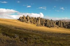 Hatun Machay: Das Klettergebiet vom Refugio aus gesehen