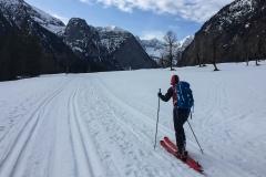 nach ca. 9km dann auf die Ski