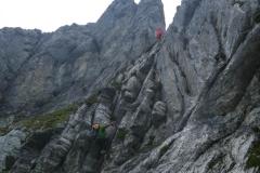 ...dann über den nicht allzu schweren (B?) Klettersteig...