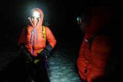 Aufstieg zum Nevado Pisco in der Nacht