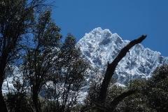 Alpamayo (5947 m) vom base camp (BC) aus gesehen - Südseite