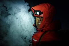 Aufstieg nachts (Start um 01:30; Gipfelglück um 6:30; zurück am Zelt um 8:30).