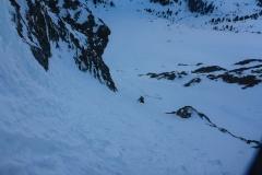 Unterhalb der WI4 Stelle...falls das die bei Bergsteigen.com genannte ist